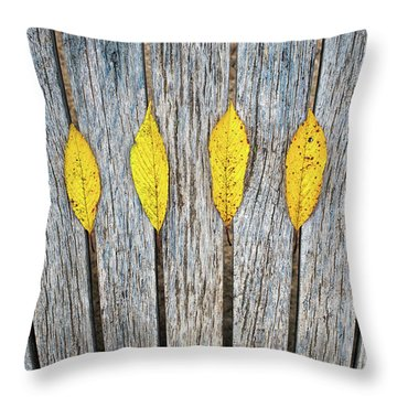 Throw Pillow featuring the photograph Leaves And Lines by Tim Gainey