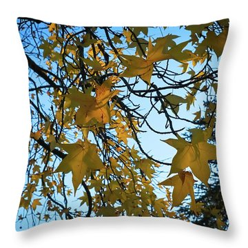 Throw Pillow featuring the photograph Leaves by Cendrine Marrouat