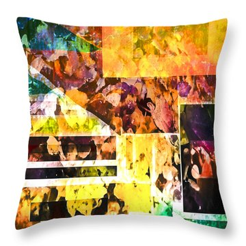 Leaves Throw Pillow by Dale Stillman