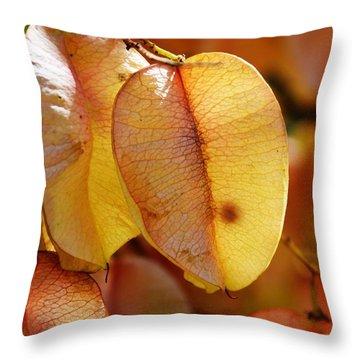 Leaves Hang For Fall-gerorgia Throw Pillow
