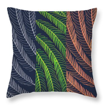 Leaves In Art Throw Pillow
