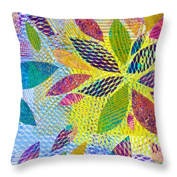 Leaves In Dappled Light Throw Pillow