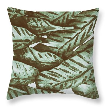 Leaves No. 3-1 Throw Pillow