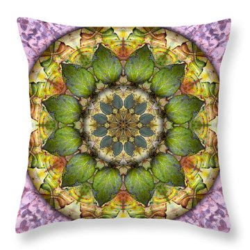 Leaves Of Glass Throw Pillow