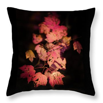 Leaves Of Surrender Throw Pillow by Karen Wiles