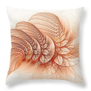 Leaves Of The Fractal Ether-2 Throw Pillow
