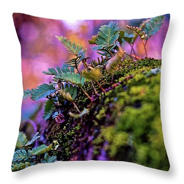 Leaves On A Log Throw Pillow