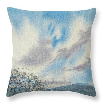 The Blue Hills Of Summer Throw Pillow