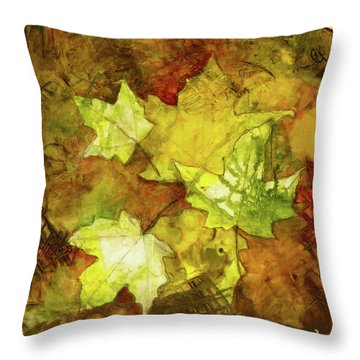 Leaves Throw Pillow by Terry Honstead