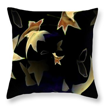 Leaves Throw Pillow by Tim Allen