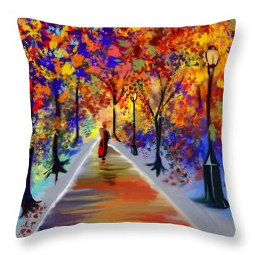 Leaving Alone Throw Pillow
