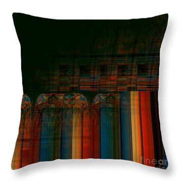 Leaving Darkness Throw Pillow