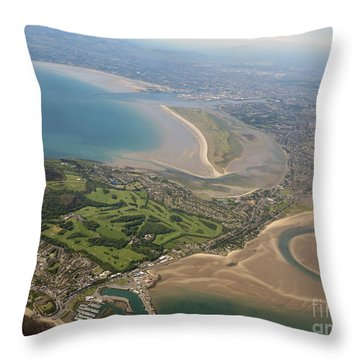 Leaving Dublin Ireland  Day10 Throw Pillow by Cindy Murphy - NightVisions