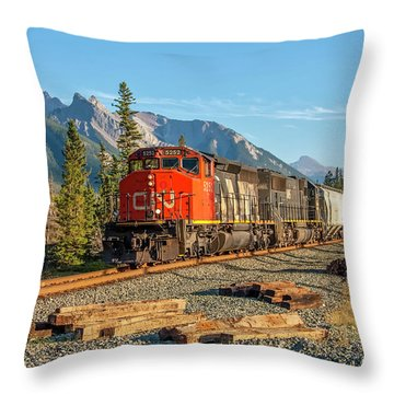 Leaving Jasper 2009 02 Throw Pillow