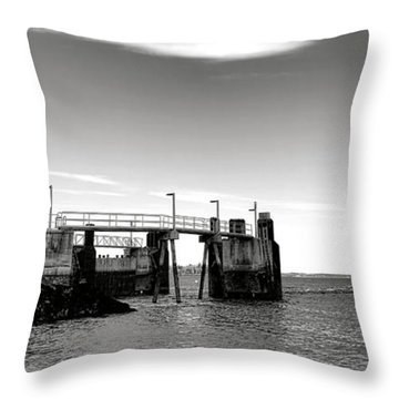 Leaving Lincolnville Throw Pillow by Olivier Le Queinec