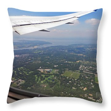 Leaving New York Throw Pillow by Cindy Murphy - NightVisions