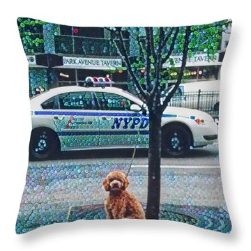 Leaving Nyc Throw Pillow
