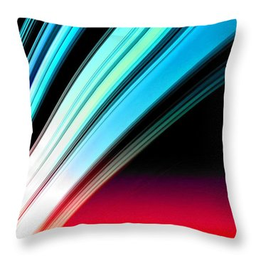 Leaving Saturn In Azure And Scarlet Throw Pillow