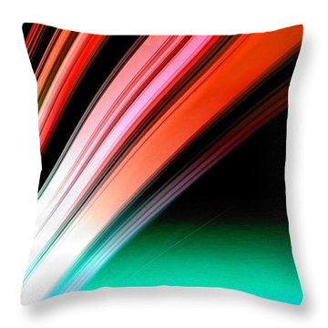Leaving Saturn In Fire Opal Throw Pillow
