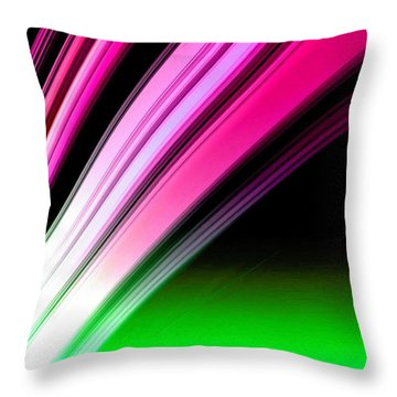 Leaving Saturn In Hot Pink And Green Throw Pillow