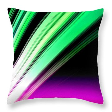 Leaving Saturn In Pink And Mint Throw Pillow by Pet Serrano