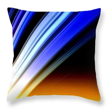 Leaving Saturn Throw Pillow