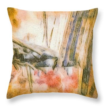 Leaving The Woods Throw Pillow by William Wyckoff