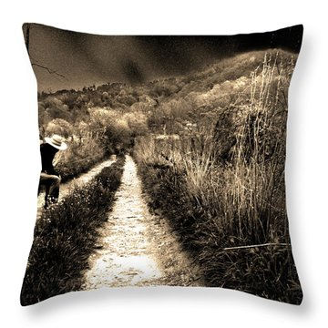 Throw Pillow featuring the photograph Leaving This Town by Gray  Artus