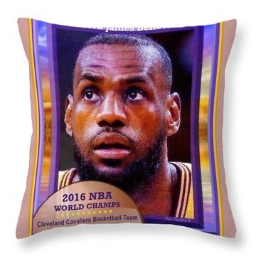 Lebron James Believes Throw Pillow by Ray Tapajna