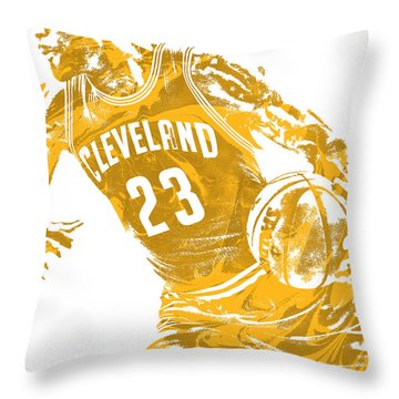 Lebron James Cleveland Cavaliers Pixel Art 20 Throw Pillow