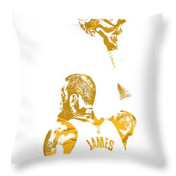 Lebron James Cleveland Cavaliers Pixel Art 71 Throw Pillow