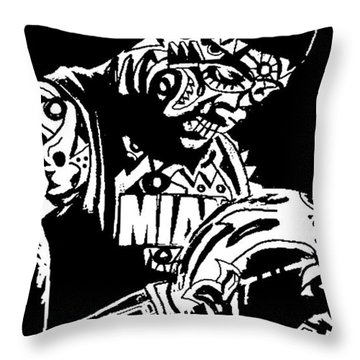 Lebron James Throw Pillow by Kamoni Khem