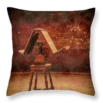 Paris, France - Lectern Throw Pillow