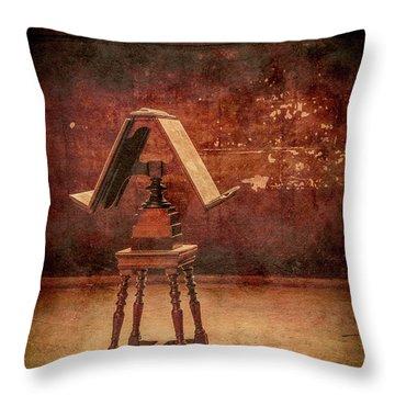 Paris, France - Lectern Throw Pillow