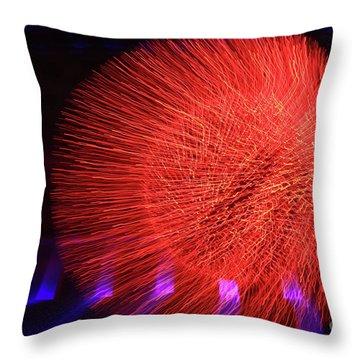Led Lights Throw Pillow