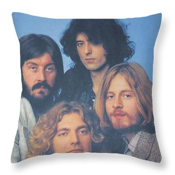 Led Zeppelin Throw Pillow by Donna Wilson