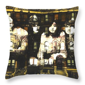 Led Zeppelin Physical Graffiti Throw Pillow by Dan Sproul
