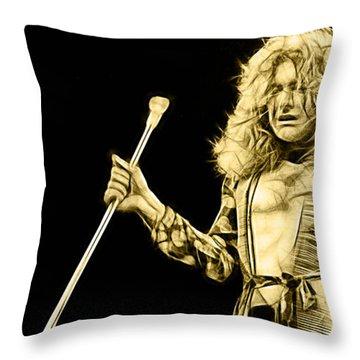 Led Zeppelin Robert Plant Throw Pillow
