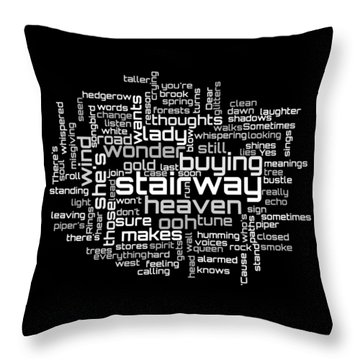 Led Zeppelin - Stairway To Heaven Lyrical Cloud Throw Pillow