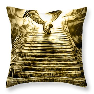 Led Zeppelin Stairway To Heaven Throw Pillow