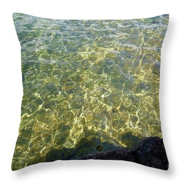 Ledge View Ripples Throw Pillow by Sandra Updyke