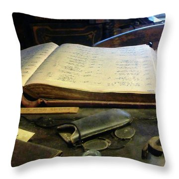 Ledger And Eyeglasses Throw Pillow