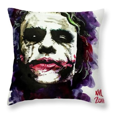 Ledgerjoker Throw Pillow by Ken Meyer jr