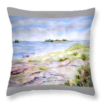 Ledges Of Granite Throw Pillow