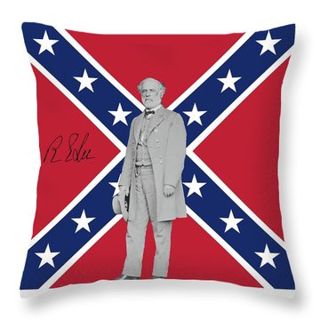 Lee Battleflag Throw Pillow