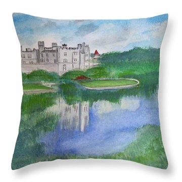 Leeds Castle  Throw Pillow by Carole Robins