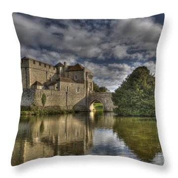 Leeds Castle Reflections Throw Pillow