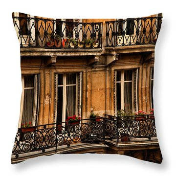 Left Bank Balconies Throw Pillow