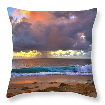 Left Behind - From Singer Island Florida. Throw Pillow