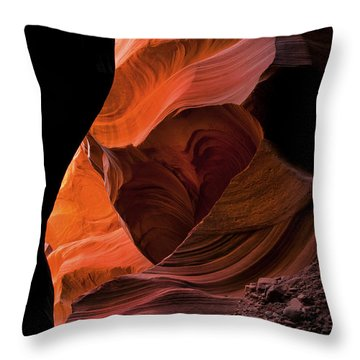 Left By Floodwaters Throw Pillow by Mike  Dawson